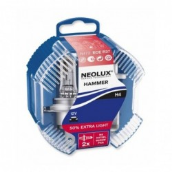 Becuri auto Neolux H4 Extra Light +50, 12V
