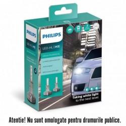 Leduri auto H3 Philips Ultinon Pro5000 HL, 5800 K, 12 /...