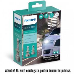 Leduri auto H4 Philips Ultinon Pro5000 HL, 5800 K, 12 /...