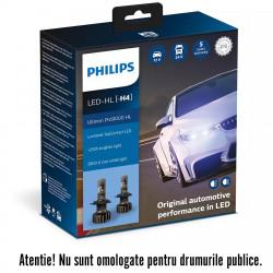 Leduri auto proiectoare Philips H4 Ultinon Pro9000, 5800...
