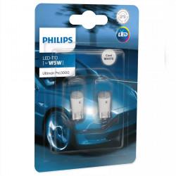 Leduri auto W5W Philips Ultinon Pro3000 SI, 0.6 W, 6000K