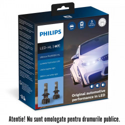 Leduri auto proiectoare Philips H7 Ultinon Pro9000, 5800...