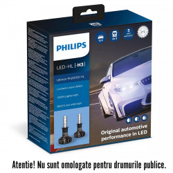Becuri LED H3 Philips Ultinon Pro9000, 5800 K, 12 / 24 V,...