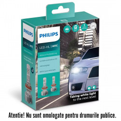 Leduri auto proiectoare H11 Philips Ultinon Pro5000 HL,...