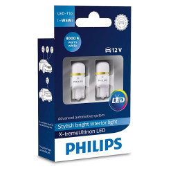 Leduri auto pozitie W5W Philips Xtreme Ultinon LED,...