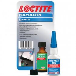 Loctite 406 + 770 - Adeziv rapid pentru plastic - 20+10 gr.