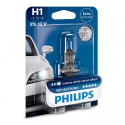 Bec auto Philips H1 White Vision, 12V, 55W