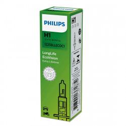 Bec auto Philips H1 Long Life Eco Vision, 12V, 55W