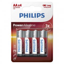 Baterie LR6/AA Philips Power Alkaline, blister 4 baterii,...