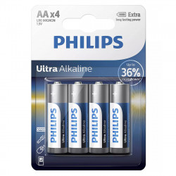 Baterie LR6/AA Philips Ultra Alkaline, blister 4 baterii,...