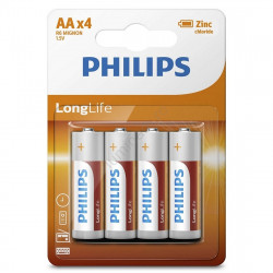 Baterie R6/AA Philips Long Life ZnC, blister 4 baterii,...