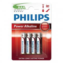 Baterie LR03/AAA Philips Power Alkaline, blister 4...
