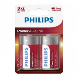 Baterie LR20/D Philips Power Alkaline, blister 2 baterii,...