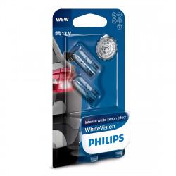 Becuri auto Philips W5W White Vision, 12V, 5W