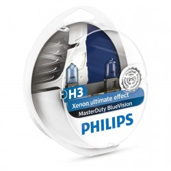 Becuri camion H3 Philips Master Duty Blue Vision, 24V, 70W