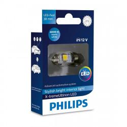 Bec LED Festoon C5W 38 mm Philips X-tremeUltinon LED,...