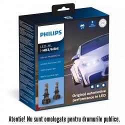 Becuri LED HB3/HB4 Philips Ultinon Pro9000, 5800 K, 12 /...