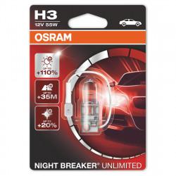 Bec auto Osram H3 Night Breaker Unlimited, 12V, 55W