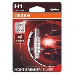 Bec auto Osram H1 Silverstar, 12V, 55W