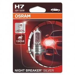 Bec auto cu halogen Osram H7 Night Breaker Silver +100%,...