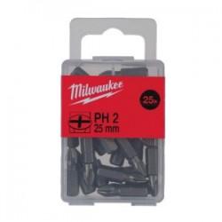 Set 25 biti PH2 Milwaukee, 25 mm