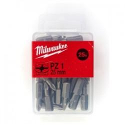 Set 25 biti PZ1 Milwaukee, 25 mm
