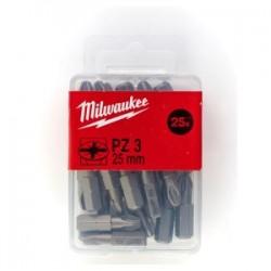 Set 25 biti PZ3 Milwaukee, 25 mm