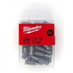 Set 25 biti TX10 Milwaukee, 25 mm