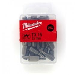Set 25 biti TX15 Milwaukee, 25 mm