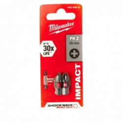 Biti PH2 impact Milwaukee, 25 mm - 2 buc
