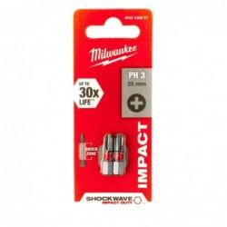 Biti PH3 impact Milwaukee, 25 mm - 2 buc