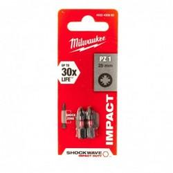 Biti PZ1 impact Milwaukee, 25 mm - 2 buc