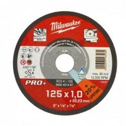 Disc debitare metal, 1 x 125 mm, Milwaukee