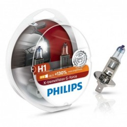 Set 2 becuri auto Philips H1 X-tremeVision G-force +130,...