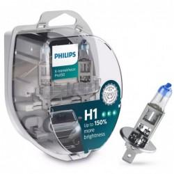 Set 2 Becuri auto Philips H1 X-tremeVision Pro 150, 12V, 55W